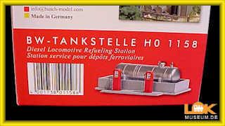 1158 Busch H0 Tankstelle für Bahnbetriebswerk
