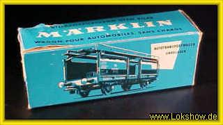 KV9057 Märklin H0 4612 Autotransportwagen Laaes DB OVP