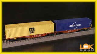 Trix 24800 Doppel-Containertragwagen Bauart Sggrss 80 Neuware