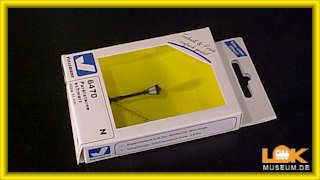 LED warmweiß schwarz N Viessmann 6470 Parklaterne